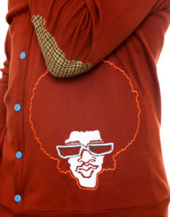 Afrodelik - Cardigan, burnt orange