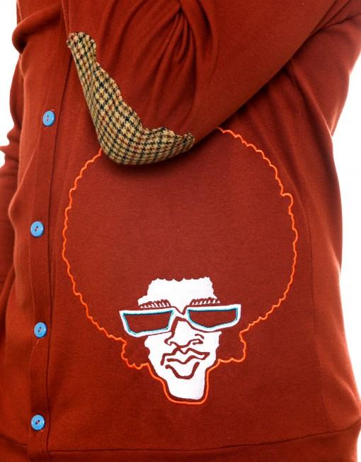 Afrodelik - Cardigan, burnt orange
