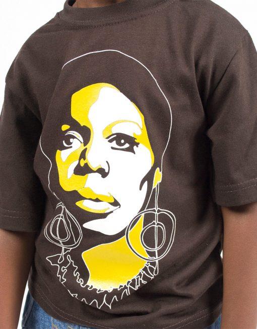 Afrodelik - Nina Simone tee - kids (detail)