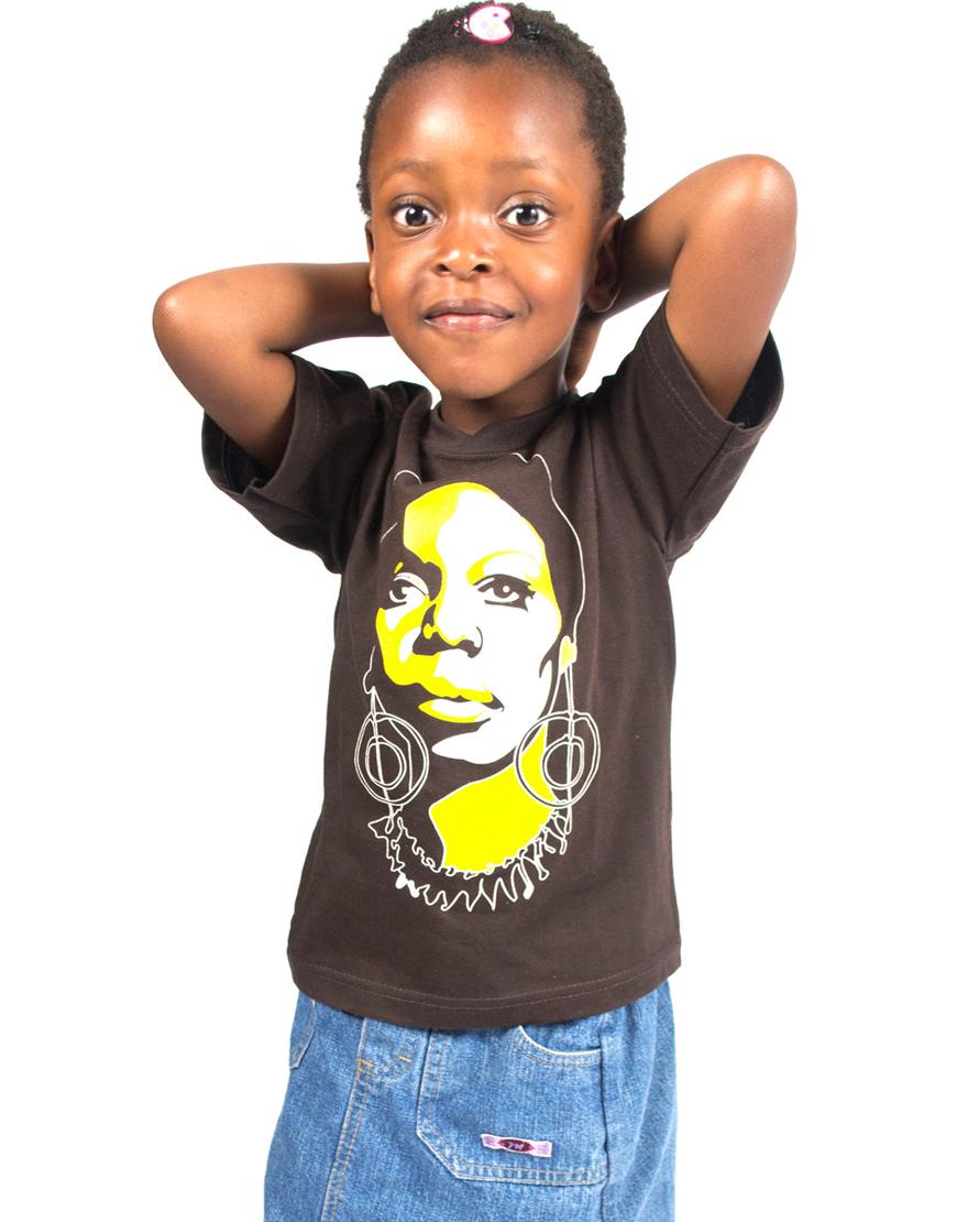 Afrodelik - Nina Simone tee - kids